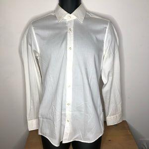 Long Sleeve Button Down Dress Shirt Size S Ivory